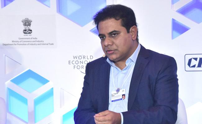 KTR Participated World Economic Forum In New Delhi - Sakshi