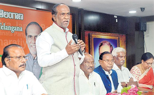 Gandhi Jayanti Held Ceremonies At BJP State Office - Sakshi