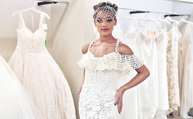 Wedding Dress Design With Toilet Paper New york - Sakshi