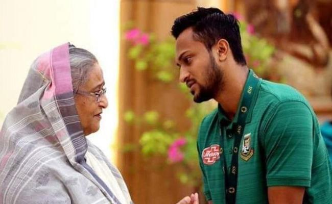 Sheikh Hasina Says Shakib Made A Mistake BCB Will Stand by Him - Sakshi
