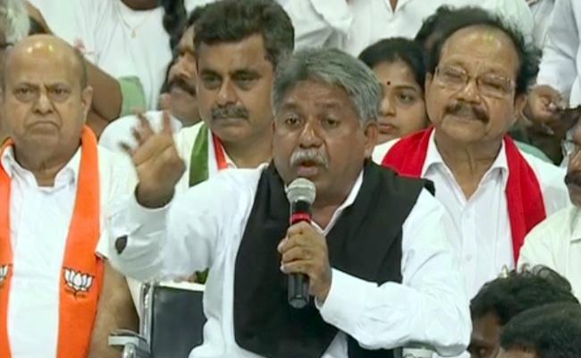 TSRTC Strike: Manda Krishna Madiga Comennts in Sakala Janula Samarabheri - Sakshi