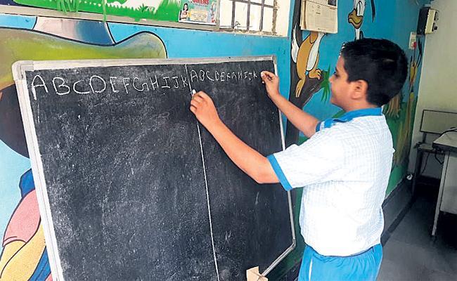 Dual Hand Writing Training in Hyderabad - Sakshi
