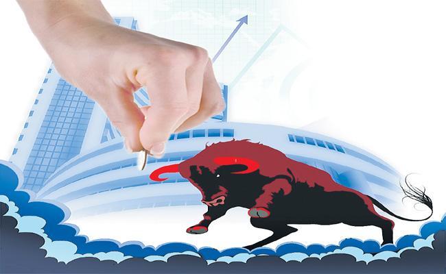 Tax Cut Expectations Pushes To Sensex And Stock Market Ups - Sakshi
