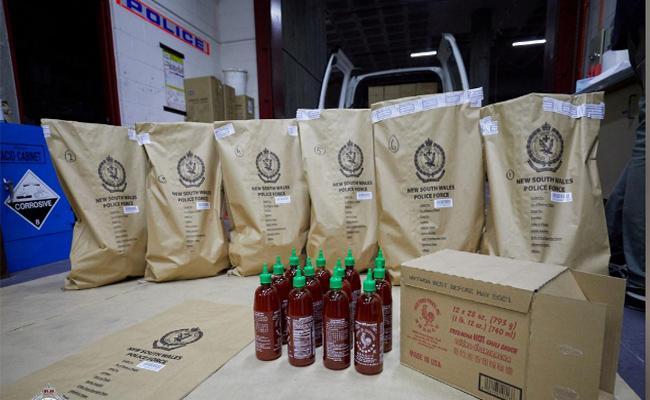 Australian Police Seize 400 kilos Of Ice Hidden in Chili Sauce Bottles - Sakshi