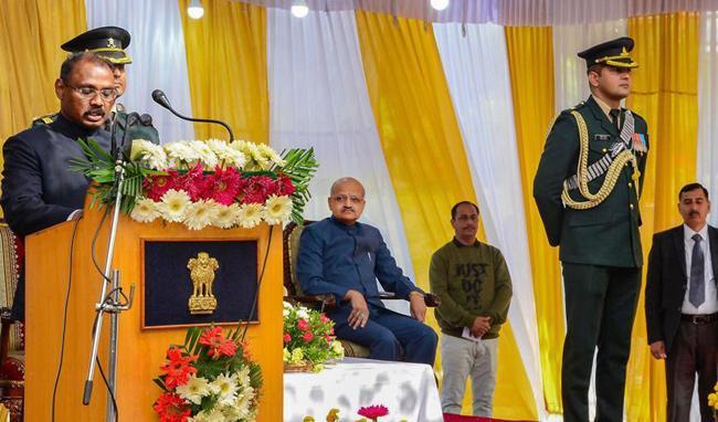Girish Chandra Murmu Sworn-in As LT Governor of Jammu And Kashmir - Sakshi