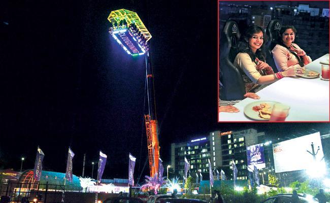 Sky Diving Restaurant in madhapur Hyderabad - Sakshi