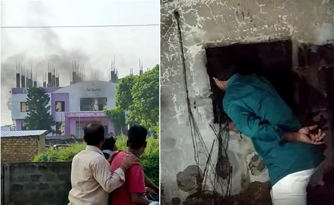 Fire Accident In Gowtham School In Payakaraopeta - Sakshi
