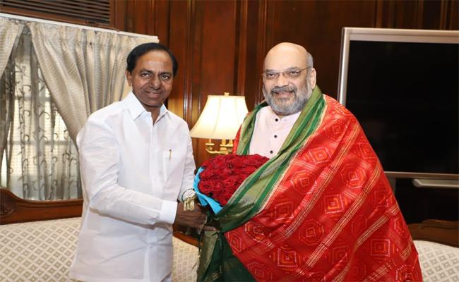 KCR Met With Union Home Minister Amit Shah In Delhi - Sakshi