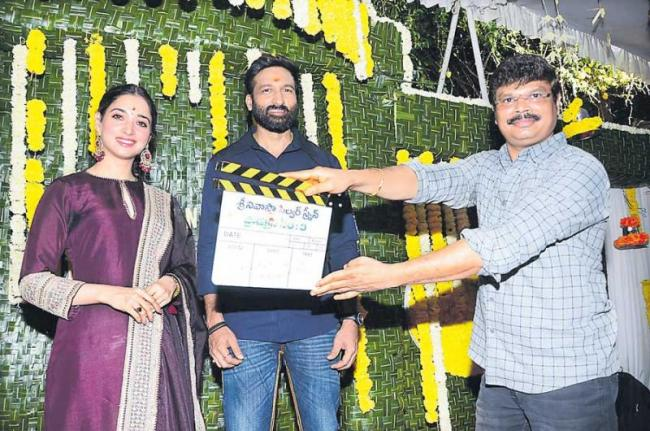 Gopichand Tamanna New Film Launched in Hyderabad - Sakshi