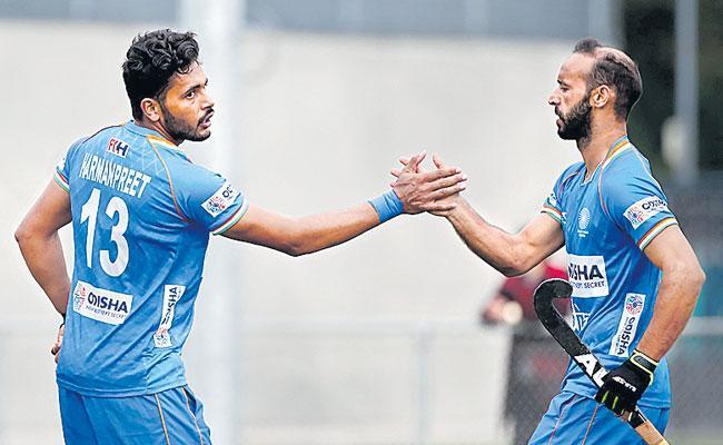Indian Mens Hockey Team Beats Belgium 5-1 In Final Match - Sakshi