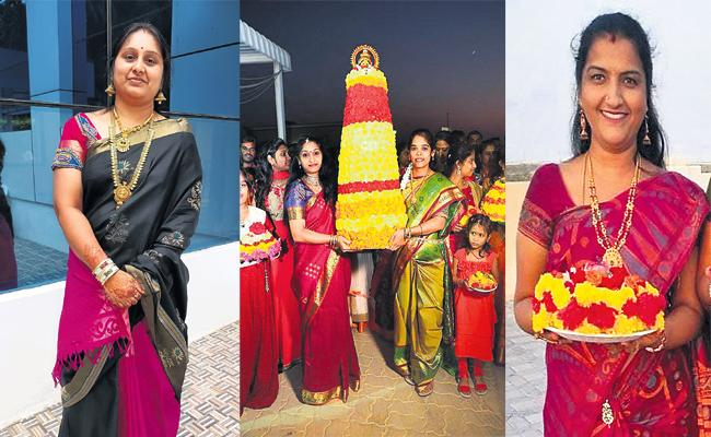 Bathukamma Celebrations in UAE - Sakshi