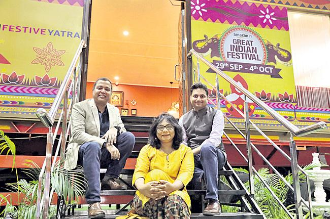 Amazon house on wheels comes to Hyderabad - Sakshi
