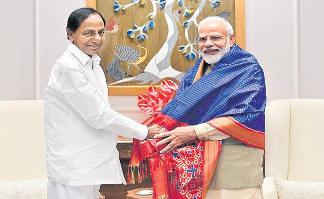 KCR Request PM Modi For Financial Support To Krishna Godavari Linking - Sakshi