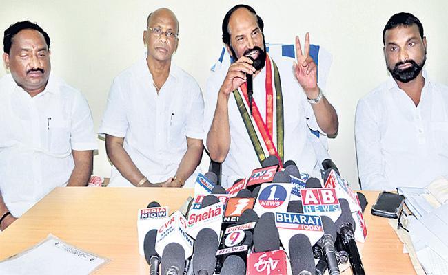 Uttam Kumar Reddy Fires On KTR - Sakshi