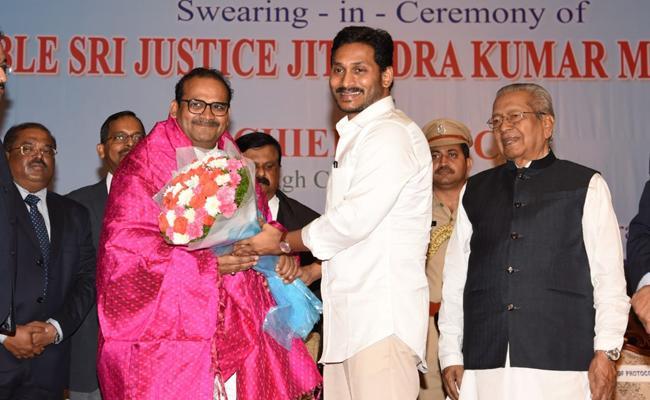 Justice Jitendra Kumar Takes Oath As AP High Court CJ - Sakshi