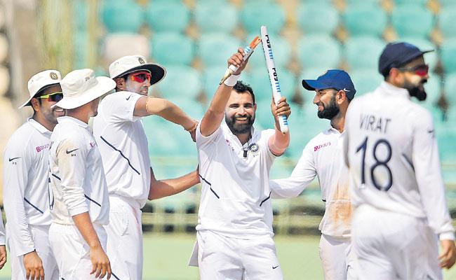 India Beat South Africa In First Test Match By 203 Runs - Sakshi