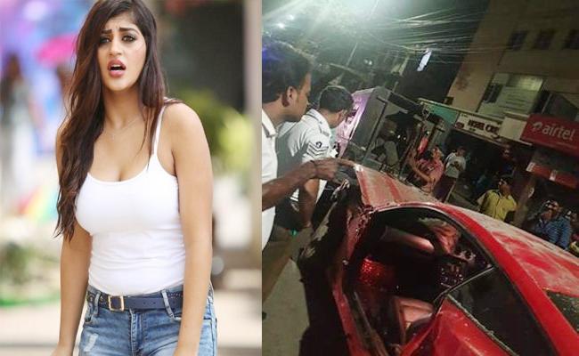 Actress Yashika Car Accident to Youngman in Tamil Nadu - Sakshi