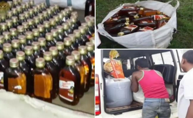 Fake Liquor Seized In Shamshabad - Sakshi