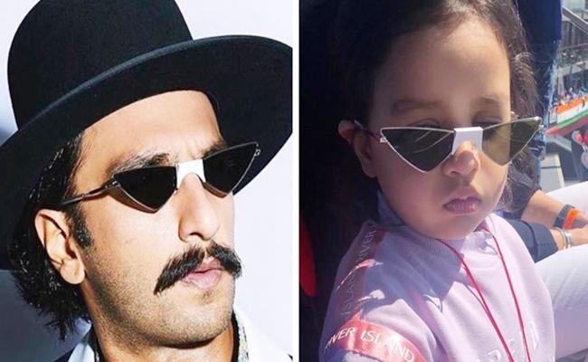 MS Dhoni Shares Daughter Jeeva Photo what She Did When Saw Ranveer Singh Pic - Sakshi