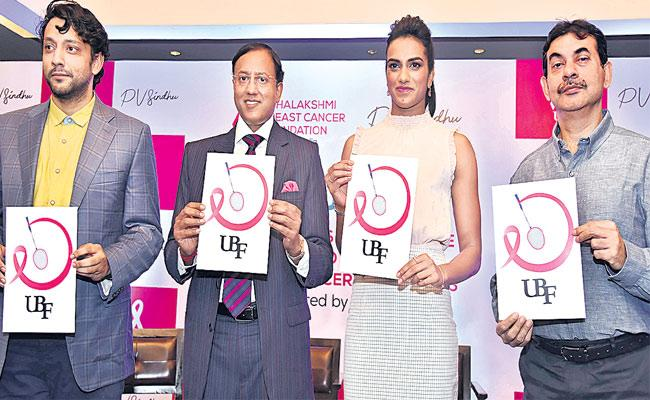 PV Sindhu Joins breast cancer Awareness Campaign - Sakshi