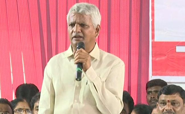 Ravula Chandrasekhar Reddy Speaks AT All Party Meeting By TSRTC JAC - Sakshi