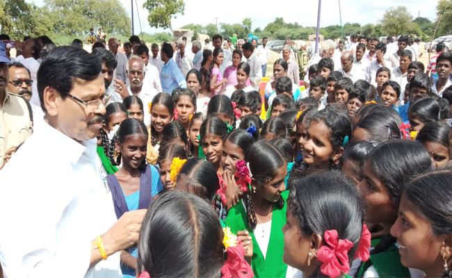 Government Whip kapu Ramachandra Reddy Visit Government School - Sakshi