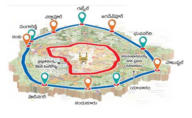 Central Government Denied Nod To Regional Ring Road Second Phase In Hyderabad - Sakshi
