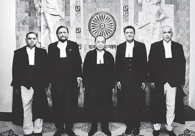 Ayodhya Verdict in the 5 Supreme Court judges set to deliver historic ruling - Sakshi