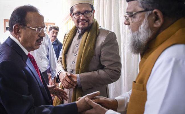 Ajit Doval holds meet with Hindu, Muslim leaders  - Sakshi