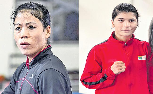 Mary Kom To Face Nikhat Zareen In Trial Olympics Selection - Sakshi