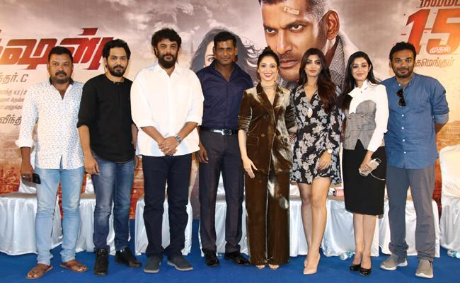 Has a Good Chemistry with Tamanna in Action Scenes, Says Vishal - Sakshi