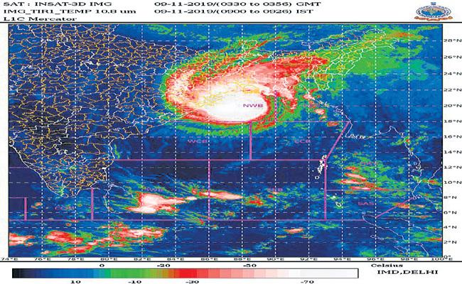 Bulbul Cyclone is gradually weakening in the northwest Bay of Bengal - Sakshi