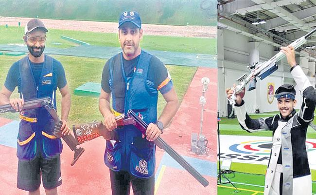 Indian Shooters With Three Olympic Berths In A Single Day - Sakshi