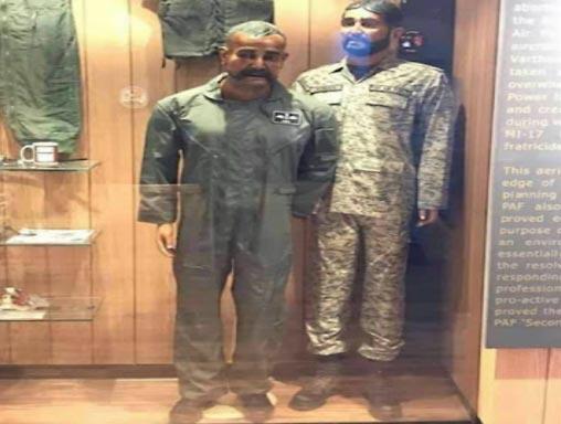 Pakistan Air Force puts Wing Commander Abhinandan is mannequin in museum - Sakshi