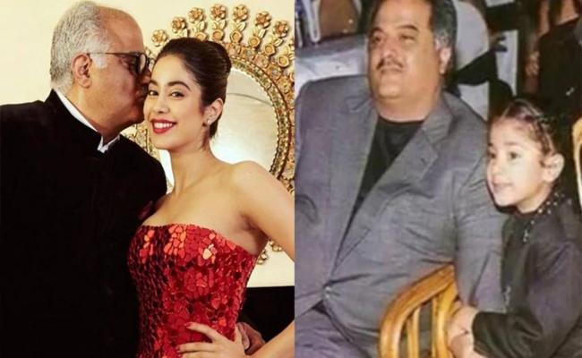 Janhvi Kapoor Heartwarming Wishes To Her Father Boney Kapoors Birthday - Sakshi