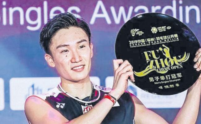 Japan Star Kento Momota Defends Fuzhou Crown For 10th Title This Year - Sakshi