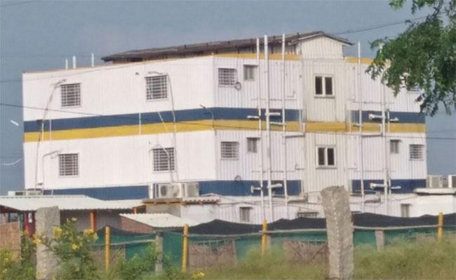 Korean People Are Living In Containers At Kiya Manufacturing Company Near Penukonda - Sakshi