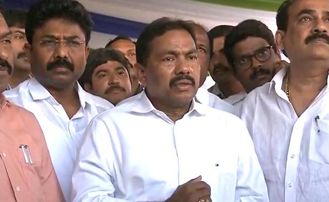 Minister Vishwaroop Slams TDP - Sakshi