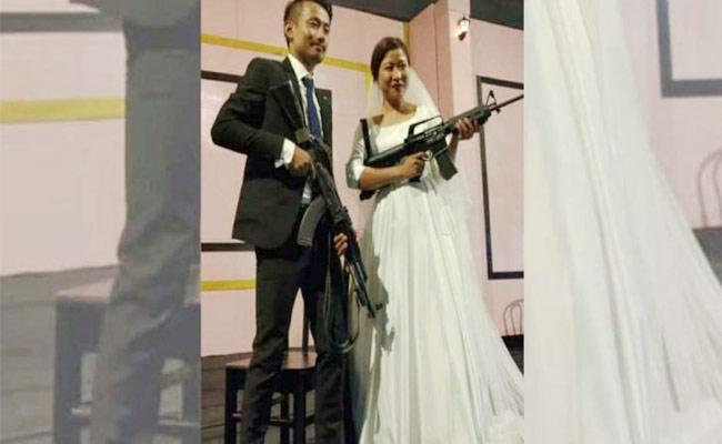 Used Guns At Nagaland Rebel Leaders Sons Wedding Reception - Sakshi
