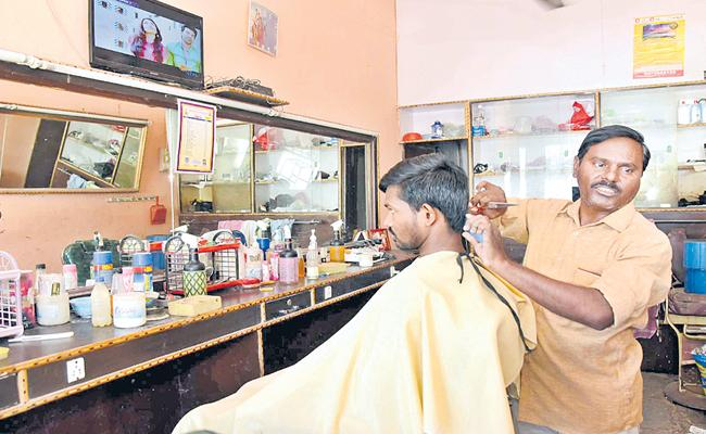 Conductor Becomes Saloon Boy Due To TSRTC Strike At Nirmal - Sakshi