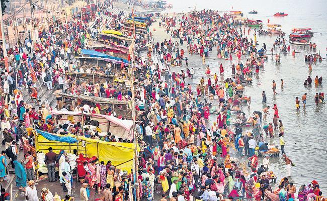 Devotees celebrates Karteeka Pournami In Ayodhya - Sakshi