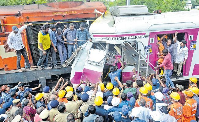 Train Accident With Loco Pilot Negligence - Sakshi