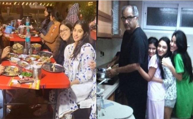 Janhvi Kapoor Posts Father Boney Kapoor's Cooking Session Pic  - Sakshi