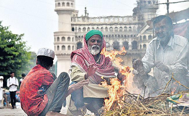 Night Temperature Drops In Telangana - Sakshi