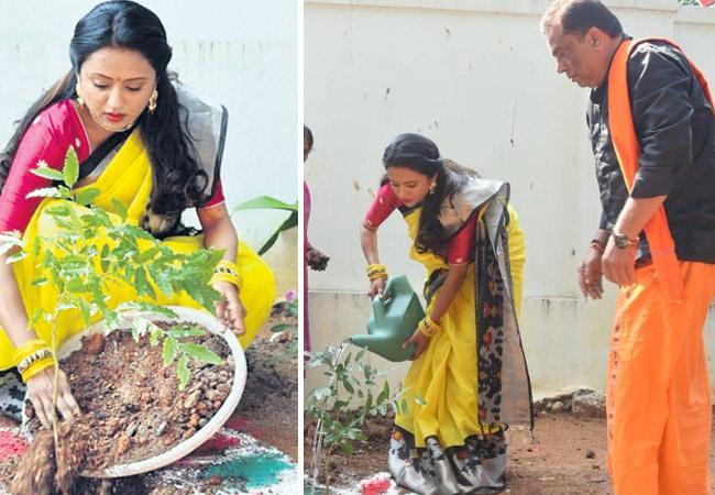 Telugu Anchor Suma Kanakala Nominate NTR for Green Challenge - Sakshi