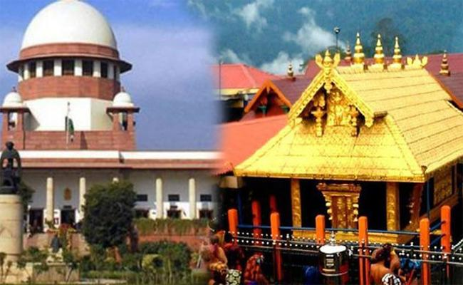 SC Refers Sabarimala Temple Issue Sent To Larger Bench - Sakshi