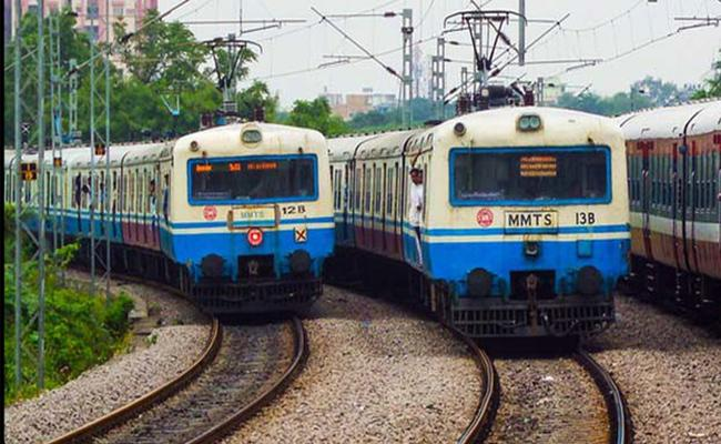 MMTS Trains Canceled Temporarily In Hyderabad - Sakshi