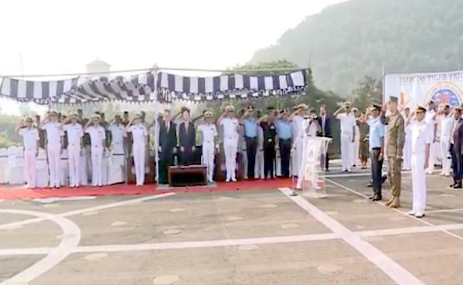 US Ambassador Kenneth Juster Attended Combined maneuvers Of Indo American Armed Forces In Visakapatnam - Sakshi