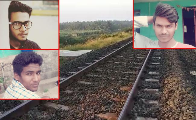 4 Students Boozing on Track Train Runs Over Them In Coimbatore - Sakshi