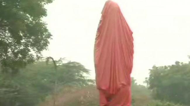 Swami Vivekananda Statue Vandalised At JNU - Sakshi